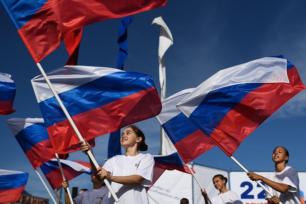 Флешмобы и акции ко Дню России